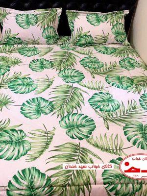 سرویس ملحفه دو نفره هاوایی سبز